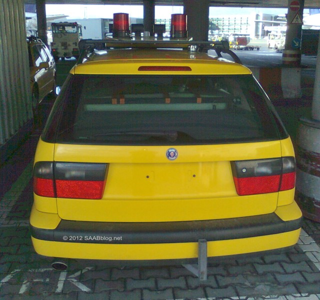 Saab 9-5 wrijvingstester, Stern, Frankfurt Airport