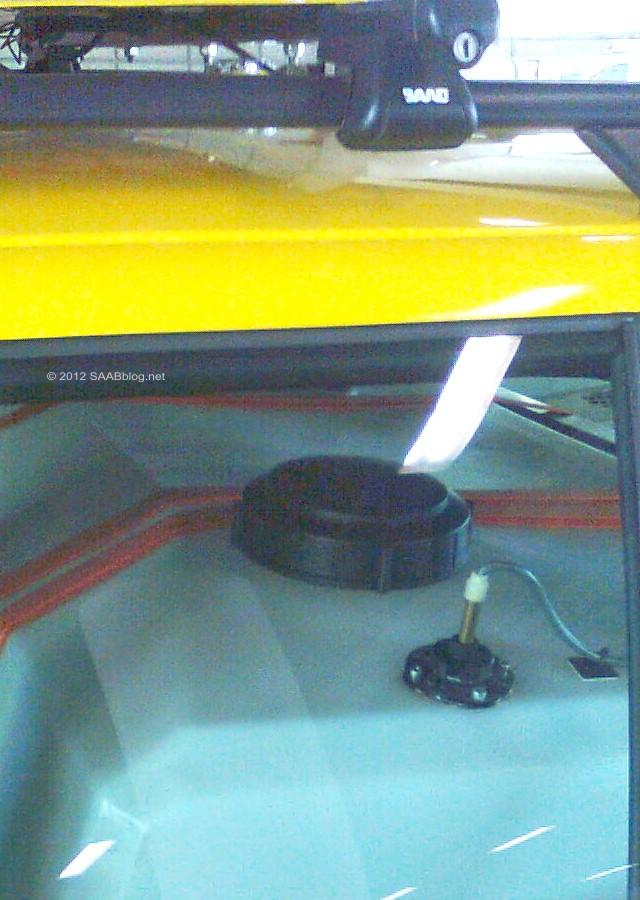 Saab 9-5 Wrijvingstester, binnenkant