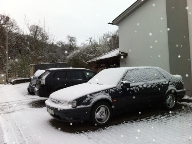Saabs en la nieve