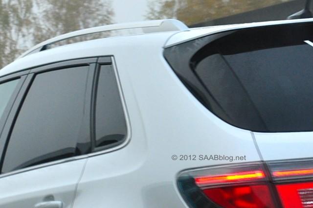Saab 9-4x Hockeystick - Zitat in der Heckklappe