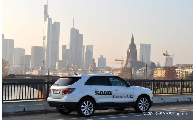 Nur geträumt ? Saab 9-4x in Frankfurt