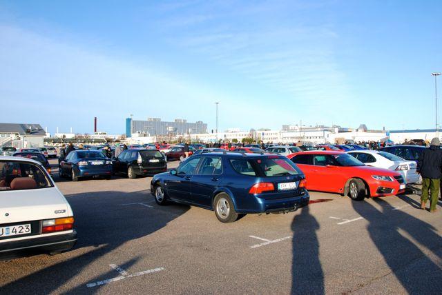 Trollhättan Saab-anläggningen, Saab möter i bästa väder