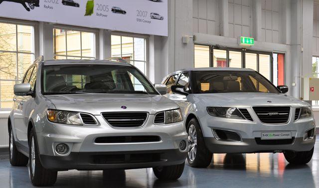 Saab 9-6x und Saab 9-4x Studie im Saab Museum
