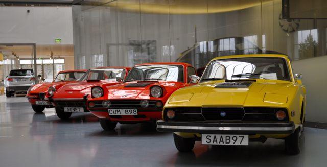 Saab Sonett II, Saab Sonett III und Catharina im Saab Museum