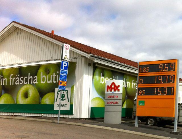 Tanken in Schweden, E85 fast überall