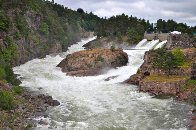 Trollhattan: Wasserfall am Fallensdagar
