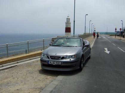 Saab 9-3 Cabriolet an der Küstenstrasse. Foto R. Röber