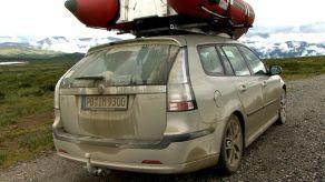 Saab 9-3 sportkläder i Norge. Foto av Manfred