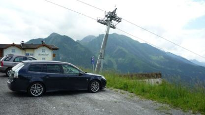 Saab 9-3 BioPower on the Alm. Photo by Marco