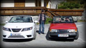 Saab ontmoet Saab. Foto van Udo