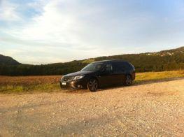 Saab Turbo X i Jura. Bild på Yves.