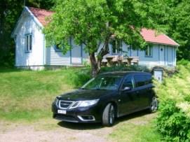 Saab 9-3 en Loftahammar. Foto de Ivo.
