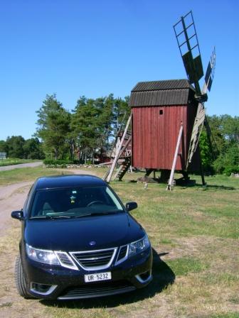 Saab 9-3 auf Öland. Foto von Ivo.