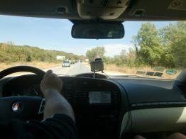 Saab en el camino. Foto de Peter.