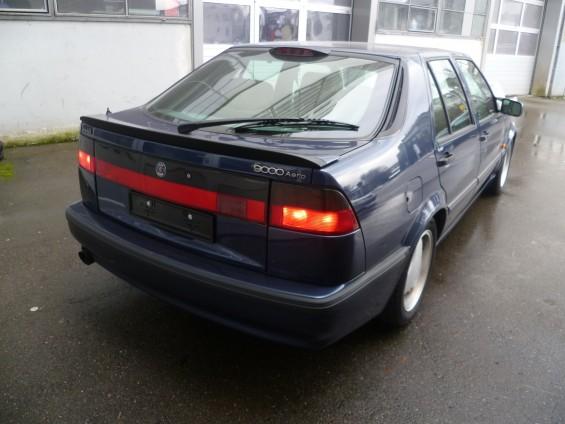 Saab 9000, vista traseira