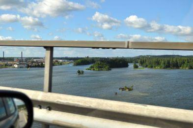 Veduta del Goeta Aelv dal ponte Stallbacka