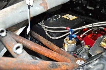Detail: Renntank im Saab 900R