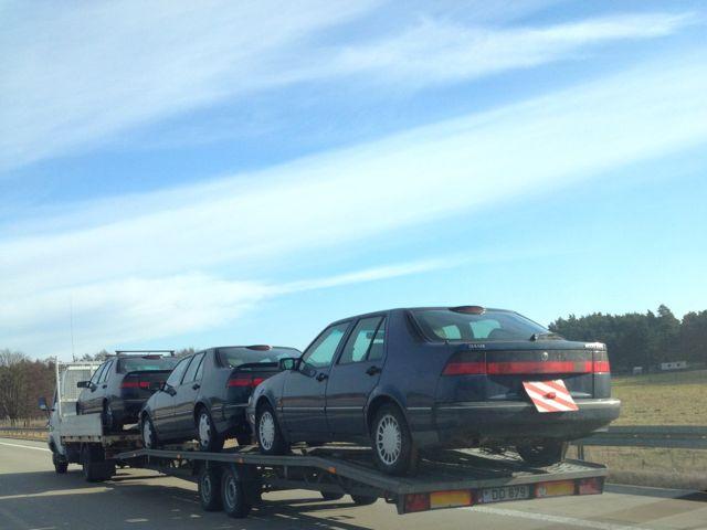 Saab 9000 sulla strada per i Paesi Baltici