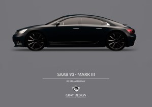 Saab 9-3 Mk III Gray Design