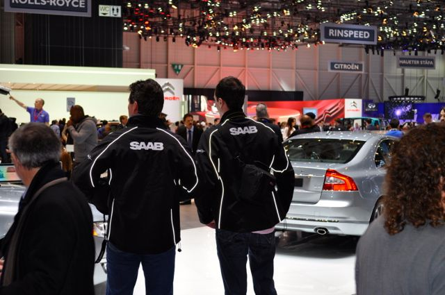 Saab Team unterwegs auf dem Autosalon in Genf