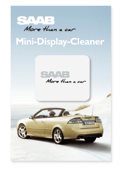 Saab Mini Display Cleaner