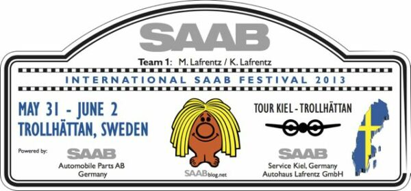 Rallye-Plate: Saab Tour Kiel - Trollhattan