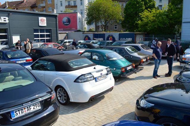 Saab Veranstaltung in Kiel: Keine Plaetze mehr frei.
