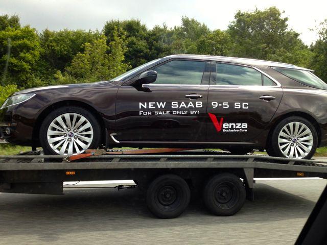 Saab 9-5 unterwegs zu seinem neuen Besitzer