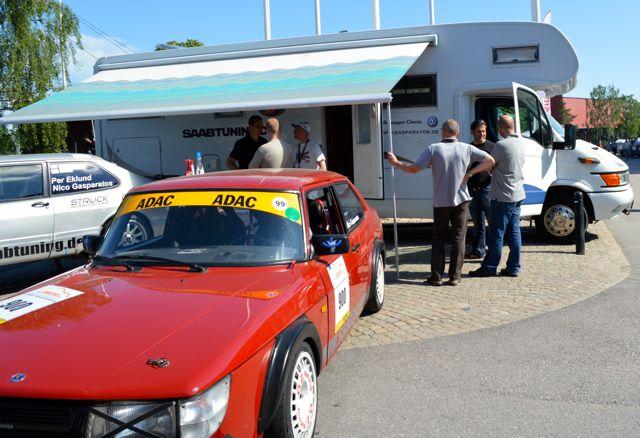 El Saabtuning Mobil, aquí en el Saab Festival, estará en el sitio en City Park Revival.