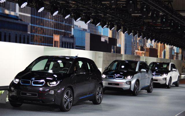 BMW i3 turné i utställningshallen