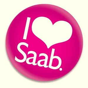 Eu amo o botão Saab