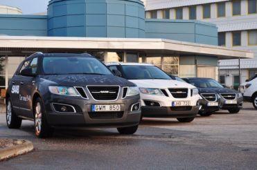 Saab 9-4x with morning dew