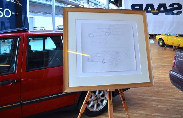 Bjoern Envall Saab design on the Nordi Car Classic