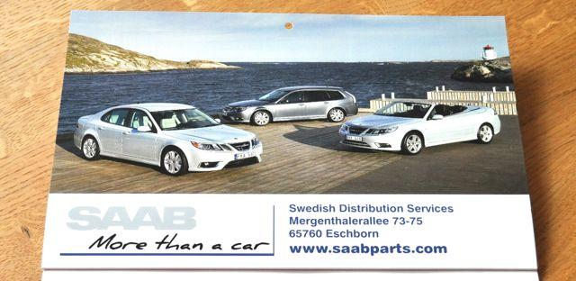 Saab Parts Kalender 2014