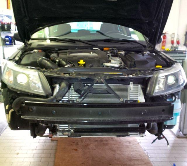 Turbo X auf der Hebebuehne