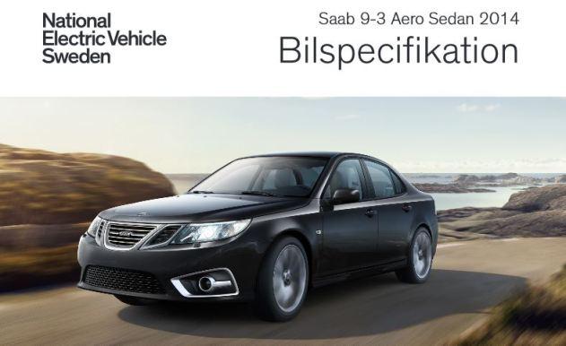 Saab 9-3 année modèle 2104