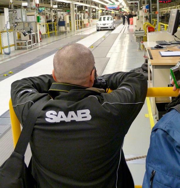 Blogger im Saab Werk