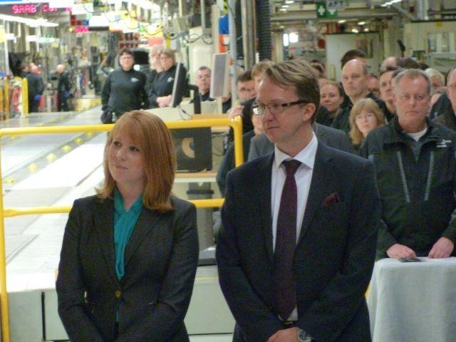 Mattias Bergman und Annie Lööf