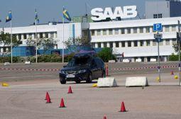 Parcours på Saab-fabriken