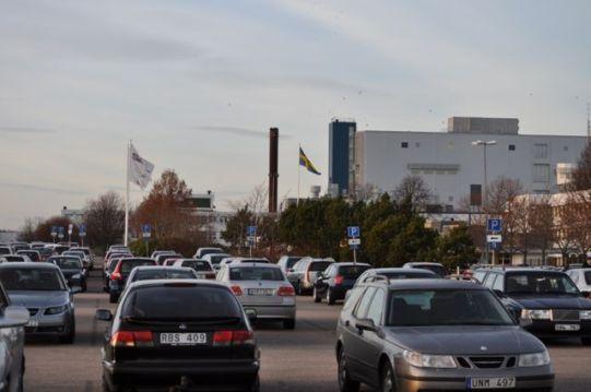 Parcheggio della fabbrica di Saab
