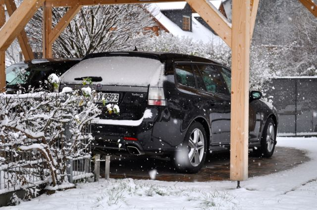 Saab Turbo X im Schnee