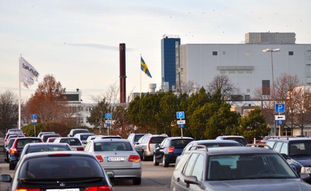 Saab Werk Mitarbeiterparkplatz