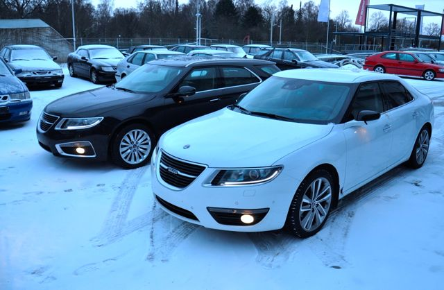 Saab 9-5 NG im Winter