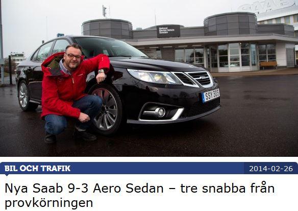 Teknikens Vaerld testar den nya Saab 9-3