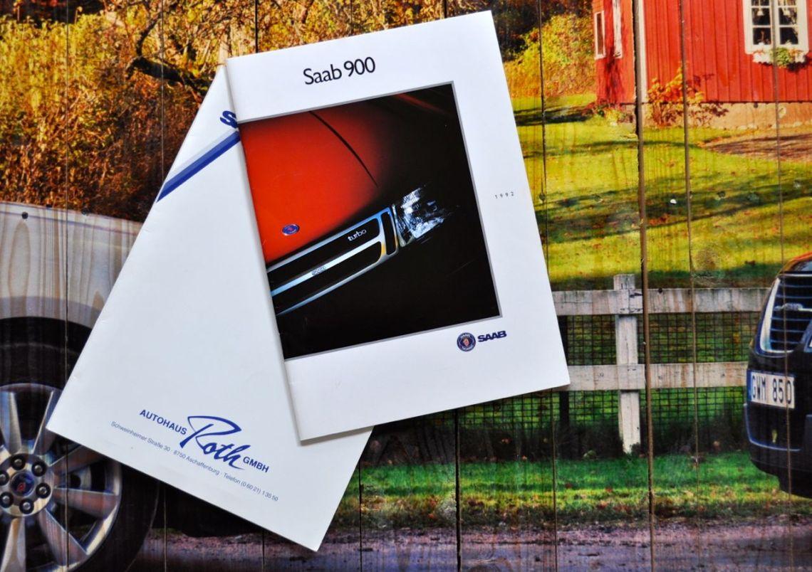Start der Saab Leidenschaft: Prospekt und Kaufvertrag 1992 © 2014 saabblog.net