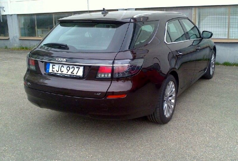 Done! Saab 9-5 NG sports car number 2 on Swedish roads.