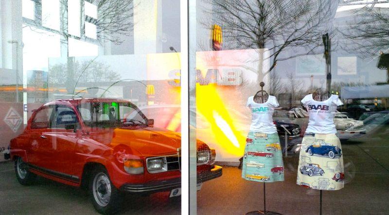Saab Schaufenster