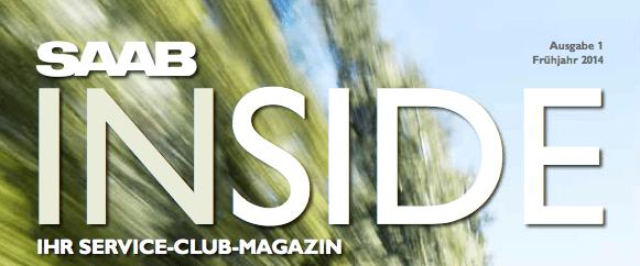 SAAB Inside - das Saab Service Club Magazin