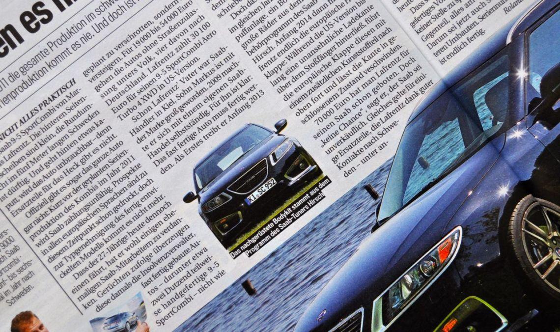 "Saab 9-5 NG Sportkombi vo Markus Lafrentz. Kommendes Wochenende live bei ""Pilots wanted 2104"""