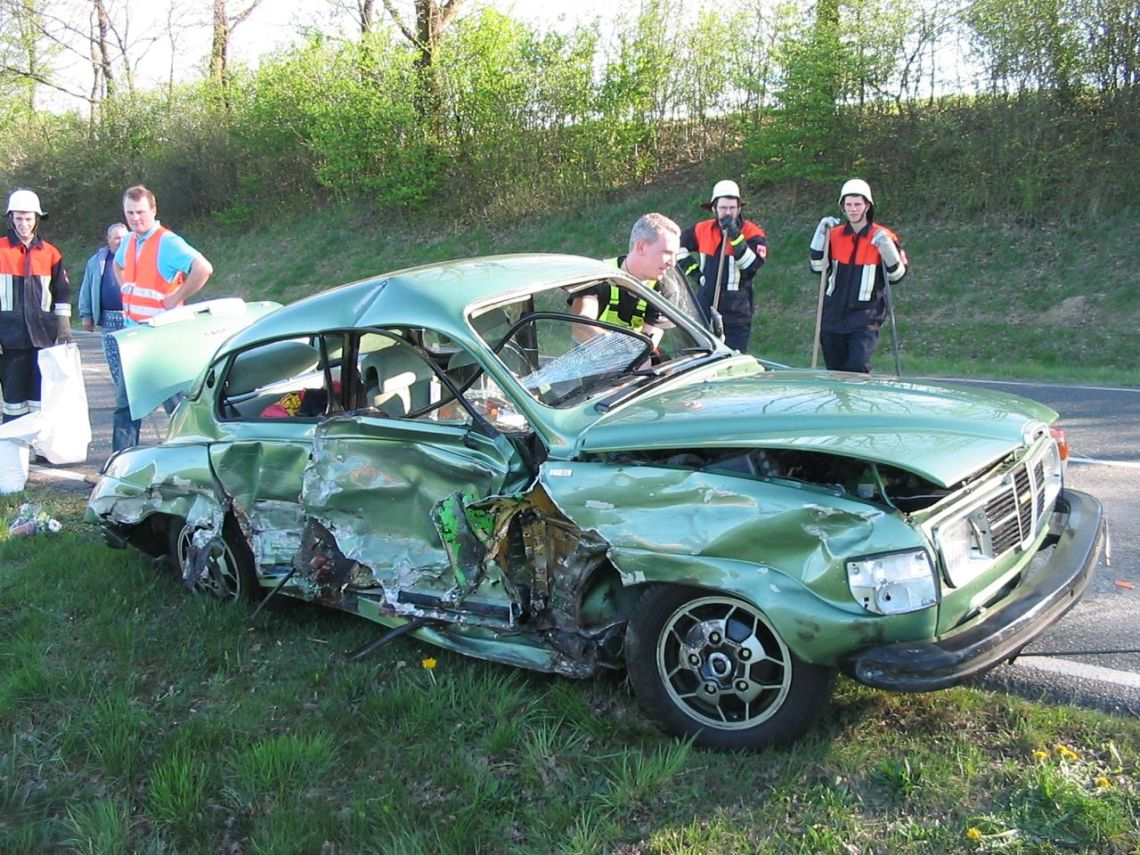 The horror photo after the impact of the SUV © 2014 Uli Beitel